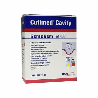 Cutimed Cavity Dressings x 10  Sterile Foam Absorbent Conformable