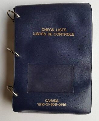Canadian Air Force Aircraft Checklist holder - Never Used!