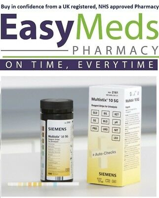 Siemens Multistix 10 SG Professional Urine Reagent Test Strips x 100 Long Expiry