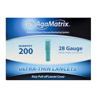 AgaMatrix Ultra-Thin Lancets 28G x 200