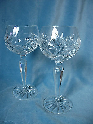 Pair of Cut Glass Hock Glasses – Ref 1476