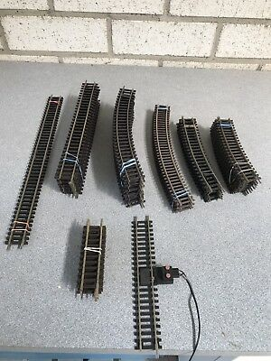 Huge Lot HO Nickel Silver Track Various Brands Over 70 Pieces.See Description
