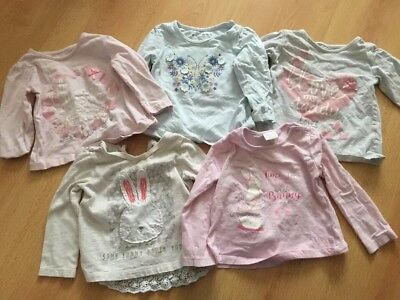 5 Baby Girls 9-12 Month Long Sleeved Tops