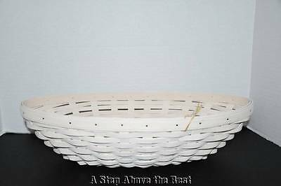Longaberger Oval Serving Basket in Whitewashed NEW