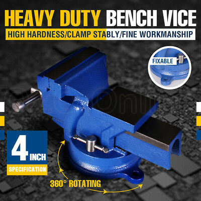 4 INCH 100MM Mechanic Workshop Table Bench Vice Heavy Duty Steel Grip Clamp NEW