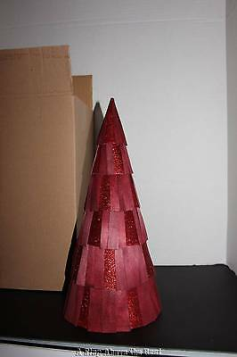 Longaberger Medium Red Glitter Tree #90439 NIB