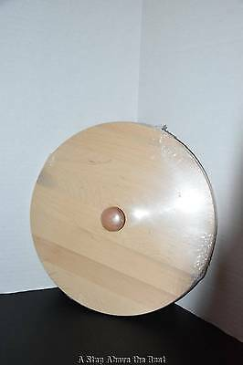Longaberger Scalloped Waste Woodcraft Lid in Soft White With Knob #5038321 New
