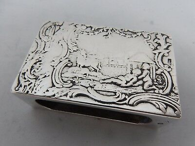 PRETTY, DUTCH silver MATCH BOX CASE, 1910, 29gm