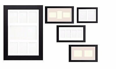 Black Multi Aperture Photo Picture Frame & Mount With Choice Of 23 Mounts Design