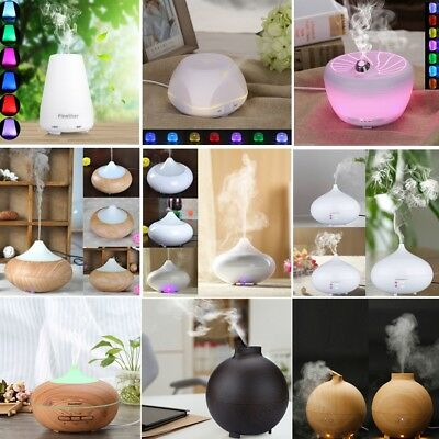 Aroma Diffuser Aromatherapy LED Essential Oil Air Humidifier Ultrasonic Purifier