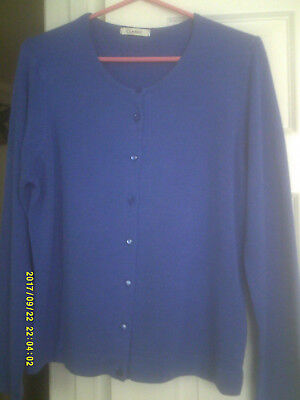 Lovely,soft size 18 m&s l/sleeve classic cardigan-iris