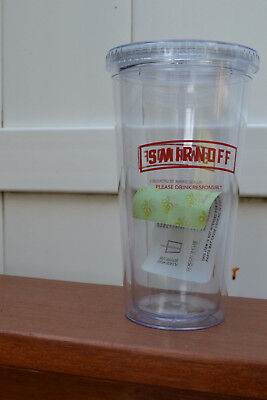 20 oz (ounce) Smirnoff Double Wall Tumbler with Lid and Straw