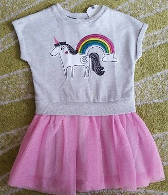 Next girls Unicorn dress 12-18 months