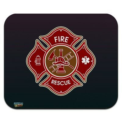 Firefighter Fire Rescue Maltese Cross Low Profile Thin Mouse Pad Mousepad