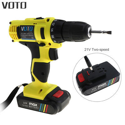 VOTO 21V Lithium-Ion Brushless Cordless Drill Screwdriver Two-speed Adjustment