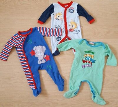 Baby Boys Bundle Blue/Green Babygrows/sleepsuit. 6-9 months. Excellent Cond