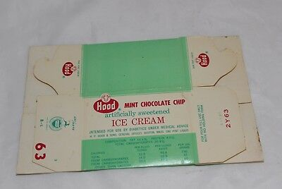 Vintage Hood Ice Cream Diet Mint Chocolate Chip Ice Cream Cardboard Container