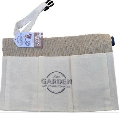 Garden Tool Belt Hessian Pockets Multi Purpose by Charlie Dimmock