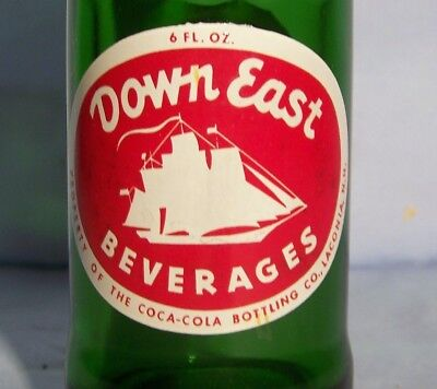 Down East Beverages ACL Painted Label Soda Pop Bottle