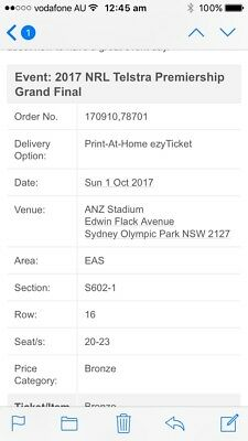 Nrl grand final family tickets