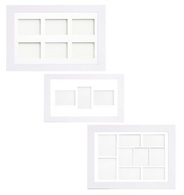 White Multi Aperture Photo Picture Frame & Mount With Choice Of 23 Mounts Design