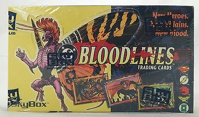 BLOODLINES FACTORY SEALED Box Case SkyBox 1993 DC Comics Superman Rare HTF OOP