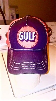 Gulf Oil hat .Orange and Blue.. Very good condition. L@@K!!!!!