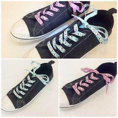 Hello kitty pink/purple and turquoise shoelaces | 2 pairs | length: 45 inches