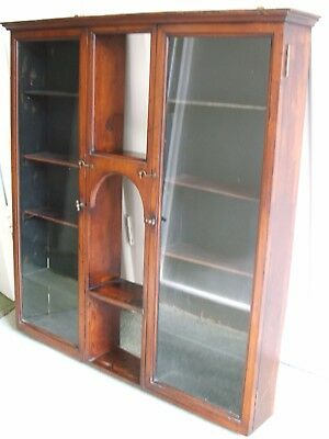 Antique Wall Cabinet, Victorian shop display cabinet.