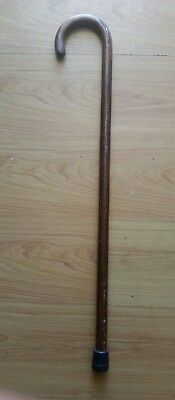 "Wooden Cane Walking Stick Round Handle Comfortable Strong 36"" Inch"