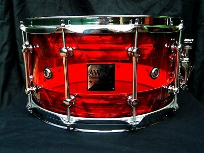 """Snare Drum Hybrid 14""""x7,5"""" Acrylic Red"""
