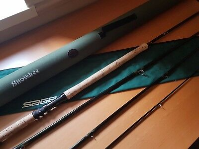 "Sage 9141-4 Graphite 3 14""1 long 9 wt line 4 section Double handed spey fly rod"