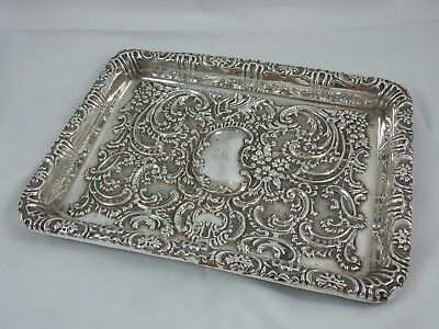 ATTRACTIVE EDWARDIAN silver DRESSING TABLE TRAY, 1902, 296gm