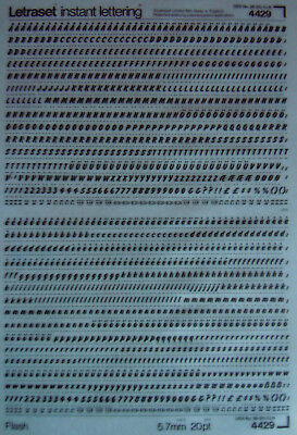 LETRASET Rub On LETTER Transfers FLASH 20pt : 5.7mm (#4429) NEW