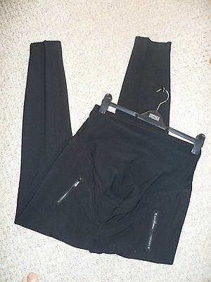 "NEXT ""Maternity"" Tailored Black Zip Detail Over The Bump Trousers Size 18R NEW"