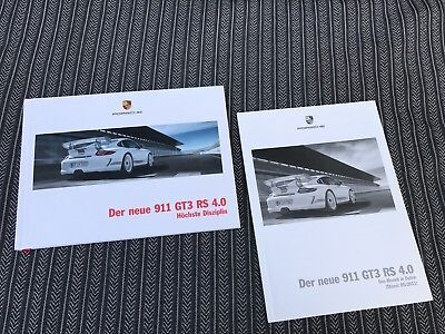 Porsche 911 997 GT3RS GT 3 RS 4.0 sales brochure & technical data rare original