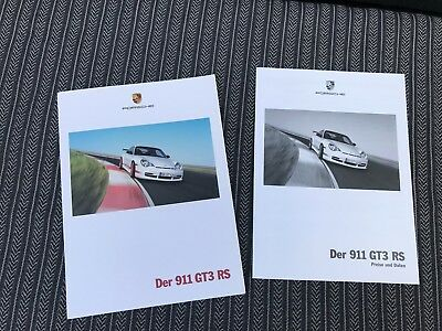 Porsche 911 996 GT 3 RS GT3RS 2004 sales brochure & technical date rare & origin