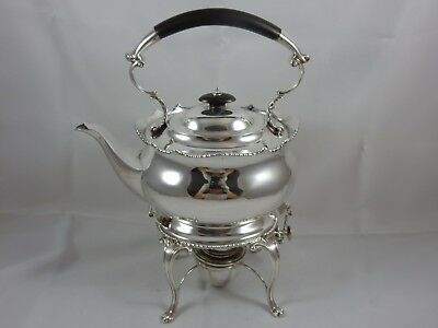 SUPERB solid silver TEA KETTLE ON STAND, 1915, 1298gm - MAPPIN & WEBB