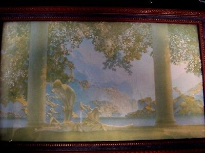 """Maxfield Parrish """"Daybreak"""" Printby The House of Art New York in Original Frame"""