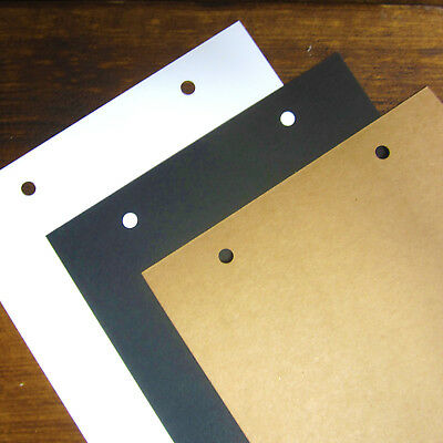 10 EXTRA PAGES A4/A5 White/Black/Kraft Ring Binding Book Pages, Global Crafts