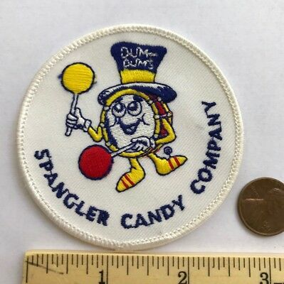 Rare*vintage*spangler Candy Company Dum Dums Embroidered Iron On Patch*3""