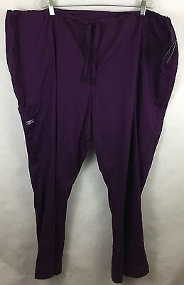 Cherokee Scrub Bottom Pants Size 4XL 4044 Purple