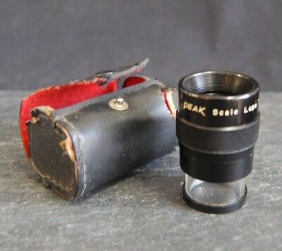 PEAK 1975 Full Focus Scale LUPE Loupe, 7X Magnification, w Case. Lupe. Japan
