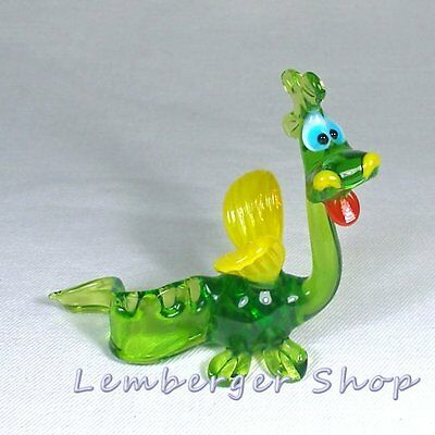 Glass figurine dragon made of colored glass. Lenght 9 cm / 3.6 inch!