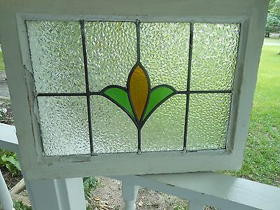R318 Very Pretty Older Leaded Stained Glass Window From England