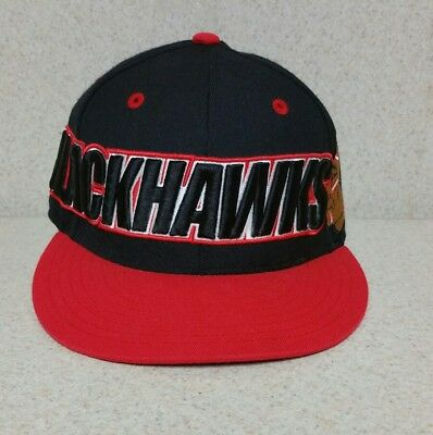 Mitchell & Ness Chicago Blackhawks Fitted 7 3/8 Hat RED/BLACK/