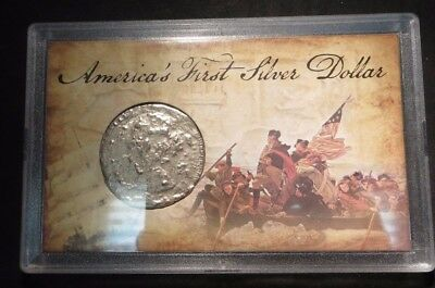 America's First Silver Dollar- Mexico/Spain 8 Real- in Case