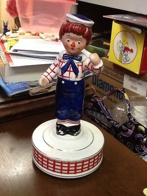 Vintage 1971 Bobbs-Merrill Co Raggedy Andy Musical Figurine