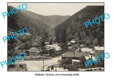 OLD LARGE PHOTO, WALHALLA VICTORIA, VIEW OF TOWNSHIP c1920