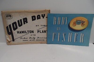 "GREAT 1956 GM ""Your Day At The Hamilton Plant"" Fisher Body Division Booklet!!!!!"